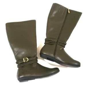 《Comfortview》NEW Olive Green Riding Boots Sz 7.5M
